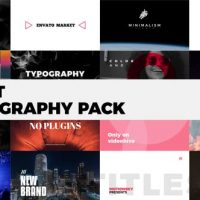 VIDEOHIVE QUIET TYPOGRAPHY PACK