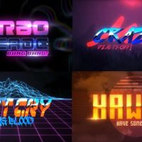 VIDEOHIVE 80S 4 PACK LOGO INTRO