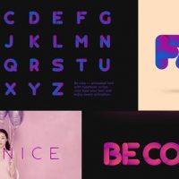 VIDEOHIVE BE NICE – STRETCHY FONT