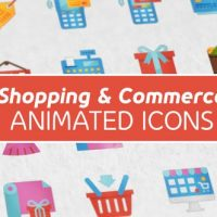 VIDEOHIVE SHOPPING AND COMMERCE MODERN FLAT ANIMATED ICONS