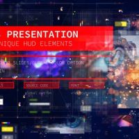 VIDEOHIVE WEB PRESENTATION/ HUD MODERN SLIDESHOW/ 3D SCI-FI GLITCH INTRO/ DIGITAL PARALLAX/ HIGHTECH INTERFACE