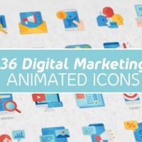 VIDEOHIVE DIGITAL MARKETING MODERN FLAT ANIMATED ICONS