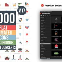 VIDEOHIVE FLAT ANIMATED ICONS LIBRARY V17