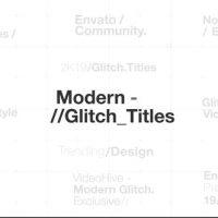 VIDEOHIVE MODERN GLITCH TITLES 23494883