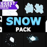 VIDEOHIVE 2D CARTOON SNOW | AFTER EFFECTS