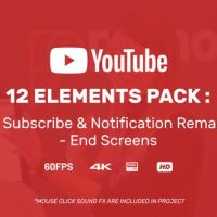 VIDEOHIVE YOUTUBER SUBSCRIBE REMINDER & END SCREENS