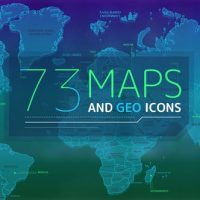 VIDEOHIVE 73 MAPS AND GEO ICONS