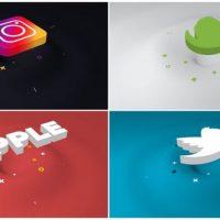 VIDEOHIVE MINIMAL RIPPLE 3D LOGO