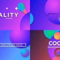 VIDEOHIVE COLORFUL TYPO OPENER
