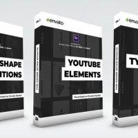 VIDEOHIVE TYPOGRAPHY SCENES, LOWER THIRDS, YOUTUBE KIT AND SHAPE TRANSITIONS